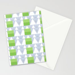 Multilayer Abstract Stationery Cards