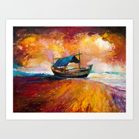 boat Art Prints featuring Boat by BOYAN DIMITROV