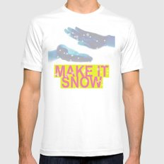 make it snow MEDIUM White Mens Fitted Tee