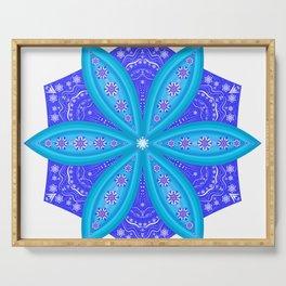 Snowflakes mandala Serving Tray