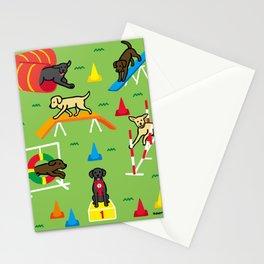 Labrador Retriever Dog Agility Fun Stationery Cards
