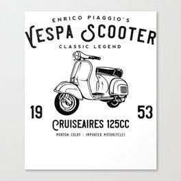 Vintage Piaggio Scooter 1953 125cc T Shirt Original Design Canvas Print