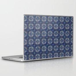 Vintage blue ceramic tiles pattern Laptop & iPad Skin