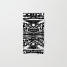 Linocut Tribal Pattern Hand & Bath Towel