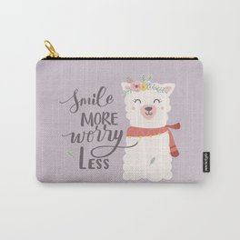 SMILE MORE, WORRY LESS! - Sweet lavender quote Carry-All Pouch