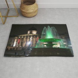 The National Gallery And Trafalgar Square Water fountains Rug