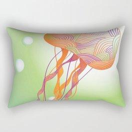 Secondary Colors Jellyfish Rectangular Pillow