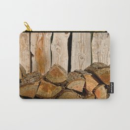 SUMMER WOODPILE ORCAS ISLAND PACIFIC NORTHWEST Carry-All Pouch