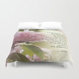 Serenity Prayer Cherry Blossom Glow Duvet Cover
