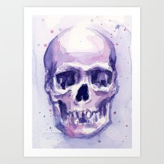 Skull Watercolor Skulls Art Print