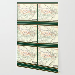 Vintage London Underground Map Wallpaper