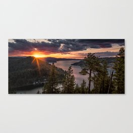 Mineral Ridge Sunset on Lake Coeur d'Alene Canvas Print