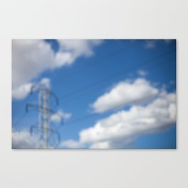 HOME: EARLY OCTOBER, CLOUDS & ELECTRICITY  Canvas Print