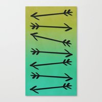 arrows Canvas Prints featuring Arrows by Leah Flores