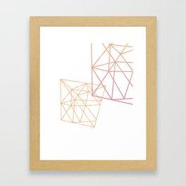 Rose and Gold Geometric Art Framed Art Print