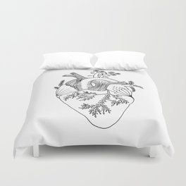 Growing heart Duvet Cover