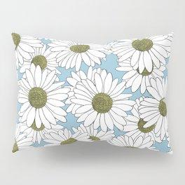 Daisy Blue Pillow Sham