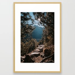 On the trail - Landscape and Nature Photography Framed Art Print