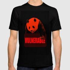 Vulnerable Giant Panda Black Mens Fitted Tee MEDIUM