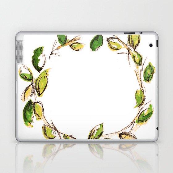 Leaf Wreath Laptop & iPad Skin