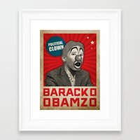 political Framed Art Prints featuring Political Clown by politics