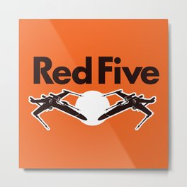 Red Five (Rebel Variant) Metal Print