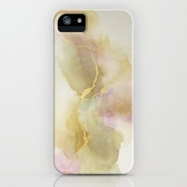 Abstract Pink Cotton iPhone Case