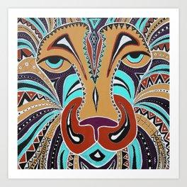 Aboriginal Lion Art Print