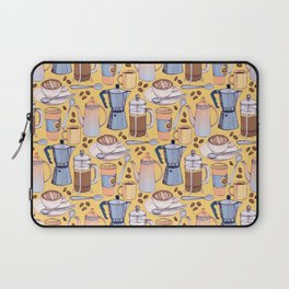 Coffee Love on Yellow Laptop Sleeve