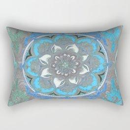 Mint Green, Blue & Aqua Super Boho Medallions Rectangular Pillow