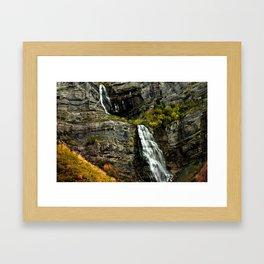 Highway Falls Framed Art Print