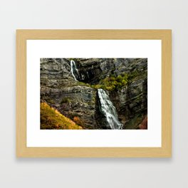 Highway Falls Framed Art Print