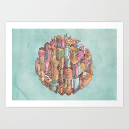 Spherical New York City Art Print