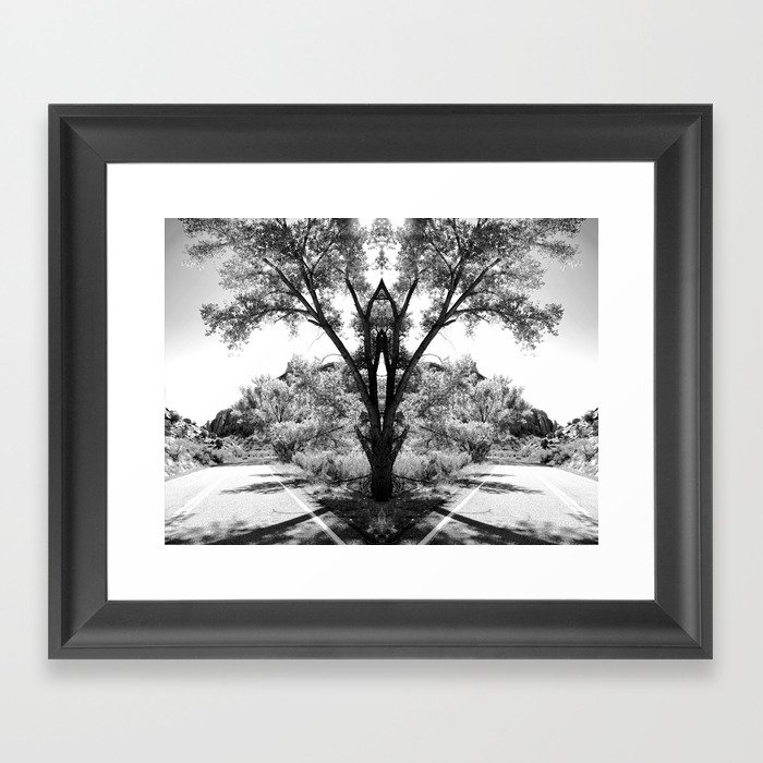 Magical Tree in the Road Framed Art Print