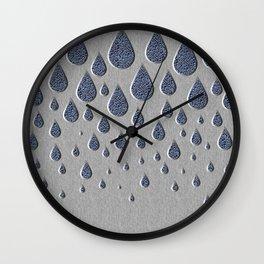 Crystallised rain drops Wall Clock