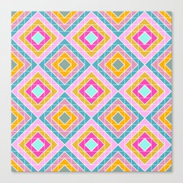 Geo Diamonds in Bright Colors Canvas Print