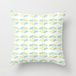 ORGANIC & NATURE (YELLOW-GREEN) Throw Pillow