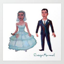 just married Art Print