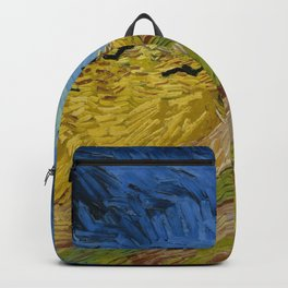 Wheatfield with Crows Painting by Vincent van Gogh Backpack