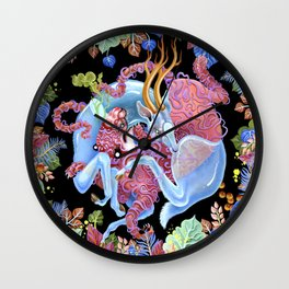 Tiger and Stag Wall Clock