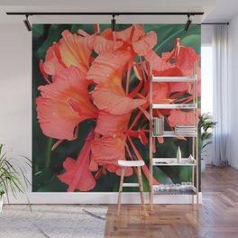 Firecracker Red Jungle Tropical Flower Wall Mural