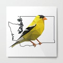 Washington – American Goldfinch Metal Print