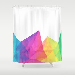 Fractal Rainbow Shower Curtain