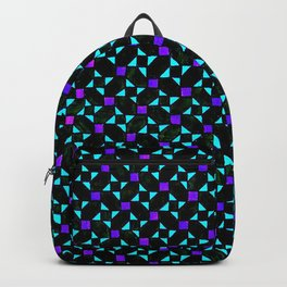Purple and Light Blue Stars Backpack