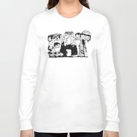 lettering Long Sleeve T-shirts featuring EAT - Lettering by gatotonto