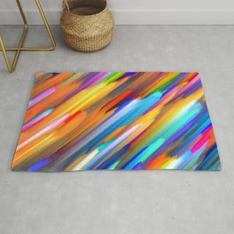 Colorful digital art splashing G391 Rug