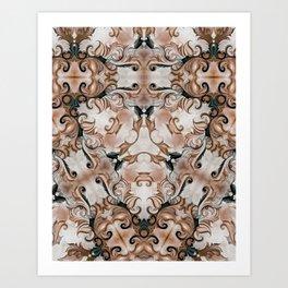 Ornate Earth Tones -D114 Art Print