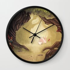 Catching the rabbit Wall Clock
