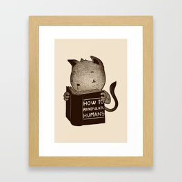 Cat Book How To Manipulate Humans Framed Art Print