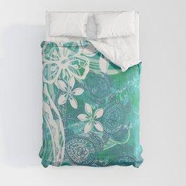 Hawaiian - Samoan - Polynesian Ocean Spray Honu Tribal Comforters